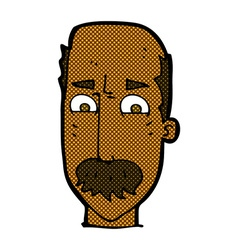 Comic cartoon annnoyed old man vector