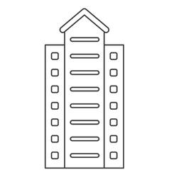 Concrete building icon vector