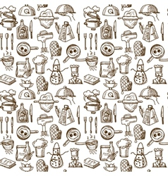 Cooking icons seamless pattern vector