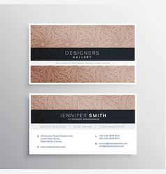 Corporate business card template layour with vector