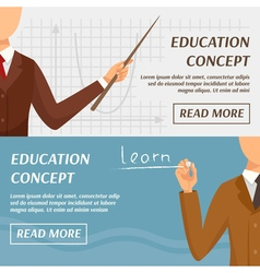 Education concept horizontal banners vector