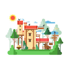 Farmland real estate design flat vector