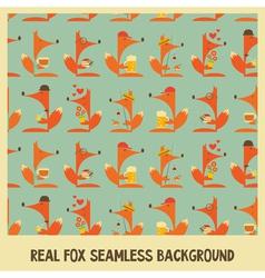 Fox seamless vector