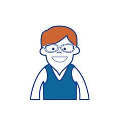 Happy man icon vector