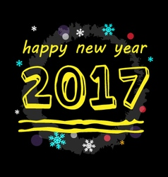 Happy new year 2017 type vector