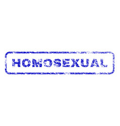 Homosexual rubber stamp vector