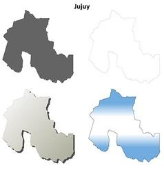 Jujuy blank outline map set vector