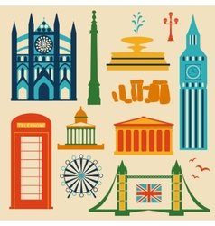 Landmarks of United Kingdom vector image