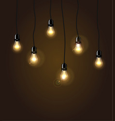 Lights isolated realistic design elements vector