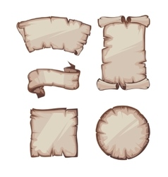 Medieval retro yellowish blank scrolls vector