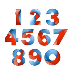 Number set colorful 3d volume icon design for vector