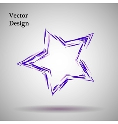 Purplelilac grange star vector
