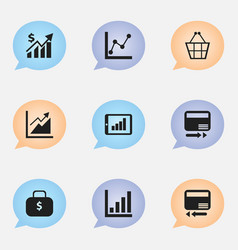 set of 9 editable logical icons includes symbols vector image