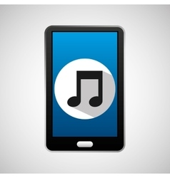 Social media mobile music icon vector