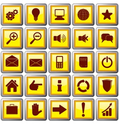 square shaped web buttons vector image vector image