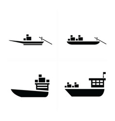 Transport boat and small boat icon vector