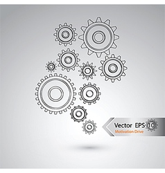 Wheel of design for industrial concept vector