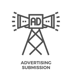 Advertising submission icon vector