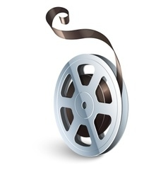 Film tape cinematography video vector image