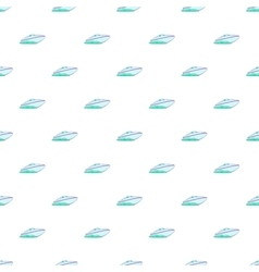 Speed boat pattern cartoon style vector