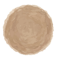 Delicate brown watercolor painted stain vector