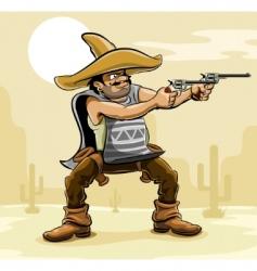 Mexican bandit vector image
