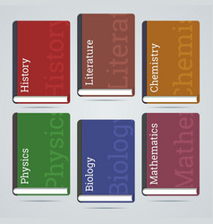 School education books flat icons vector