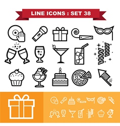 Party line icons set 38 vector