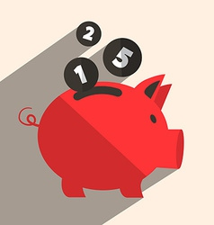 Money pig bank retro vector