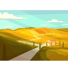 Italian tuscany landscape vector
