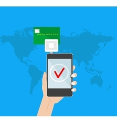 Mobile payment credit card vector