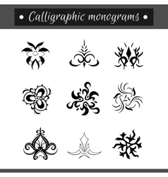 Calligraphical monograms set vector