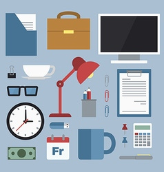 Business office equipment vector