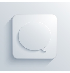 Modern bubble speech light icon vector