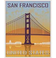 San Francisco vintage poster vector image