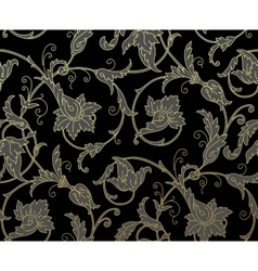 Luxury golden seamless wallpaper pattern vector
