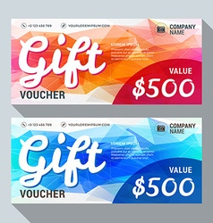 Gift voucher design print template discount card vector