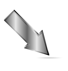 metal downloads arrow on white vector image