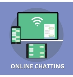 Online chatting chat technology multi platform vector