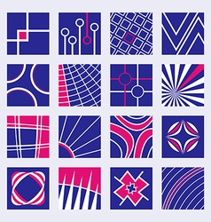 Abstract Logo Designs Set vector image