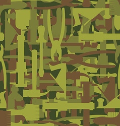 Army pattern tool Military camouflage texture of vector image
