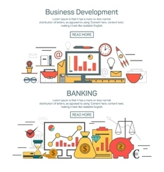 Business development and banking banner concepts vector image vector image