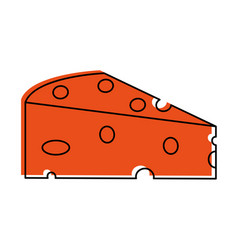 cheese slice icon image vector image vector image