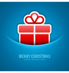 Christmas card and gift box decoration background vector image vector image