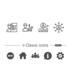 cv business networking and get a job icons vector image