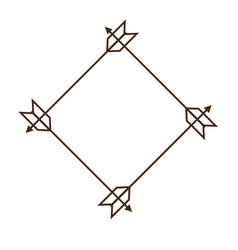 Decorative frame icon vector