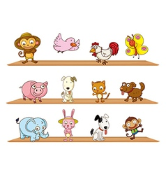 Different kinds of toy animals vector image vector image
