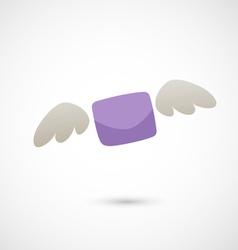 flying letter vector image vector image