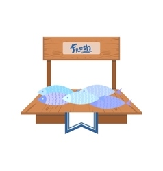 Fresh Fish On The Market vector image vector image