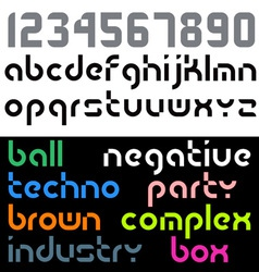 geometry font vector image vector image